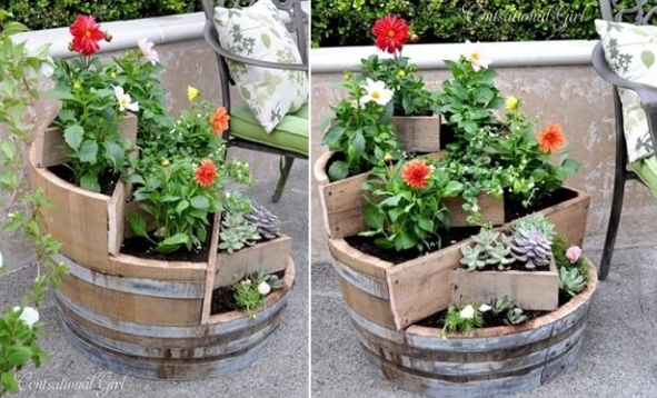 Recycled Wine Barrels Planter_2