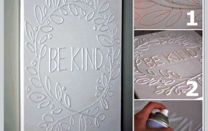 Make A Canvas Wall Art with Glue
