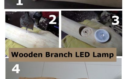 DIY – A Natural Wooden Branch LED Lamp
