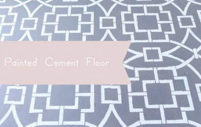 Creating A Tiled Cement Floor Look With Stencils