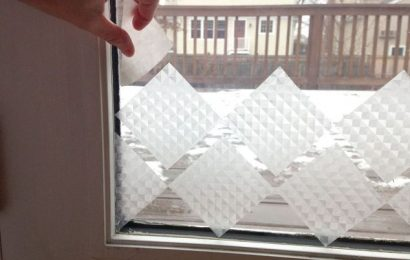 A Simple DIY Privacy Glass Door Using Sticky Paper