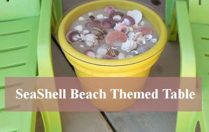 Making A Beach Themed Table Using Seashells and Sand