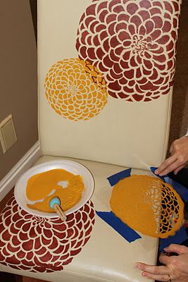 Lace paintings