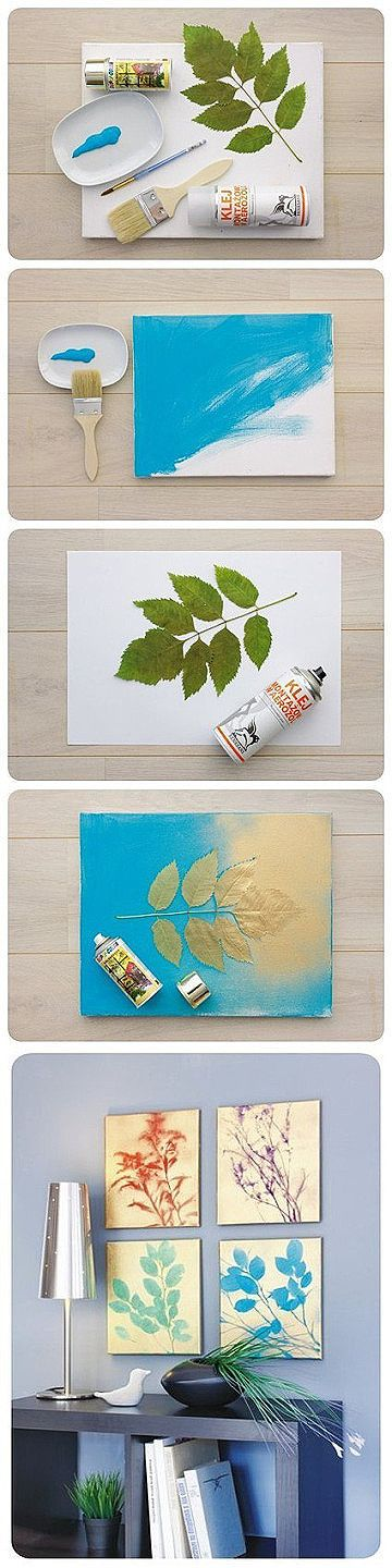 Leaves of painting