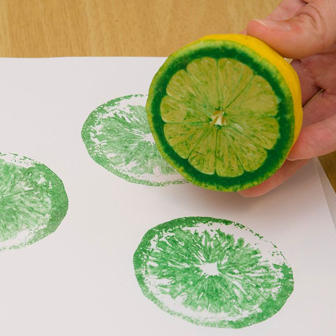 painting using lemon