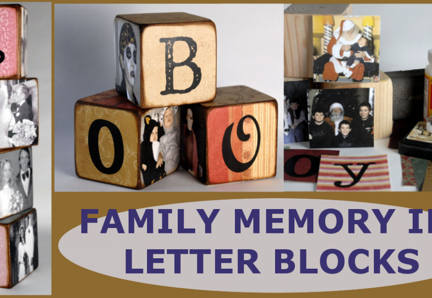 Simple DIY Family Memory Letter Blocks