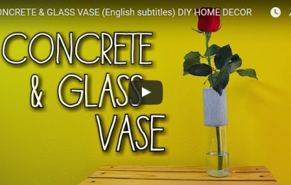 A simple DIY Concrete and Glass Vase