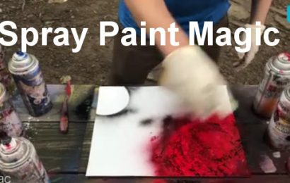 Painting a Master Piece with Spray Paints