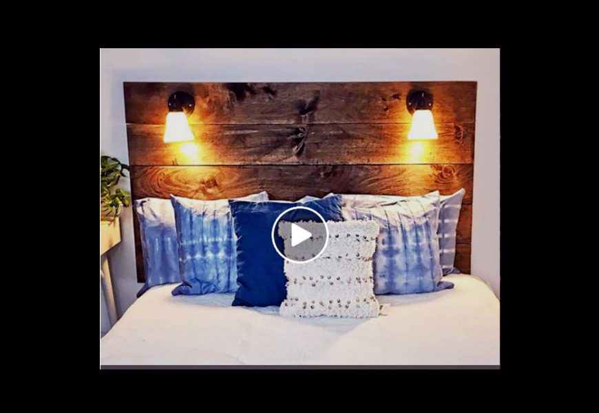 A DIY Head Board with Reading Lamps