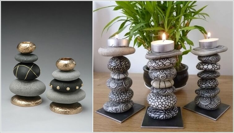 Painted-Stone-Crafts-candleholder