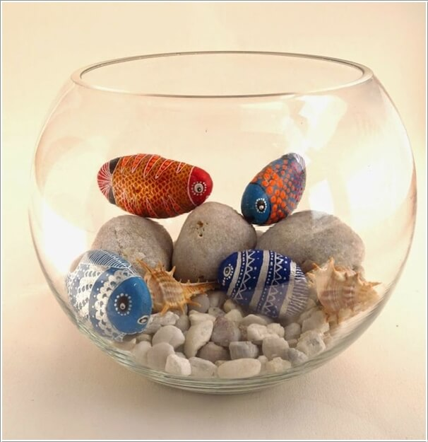 Painted-Stone-Crafts-fishbowl