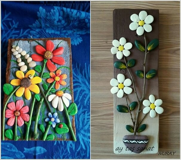 Painted-Stone-Crafts-flowers