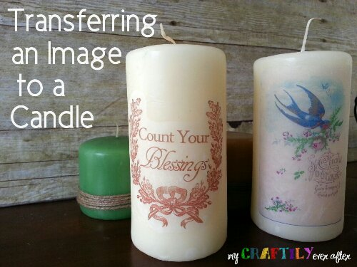 How to Transfer an Image to a Candle