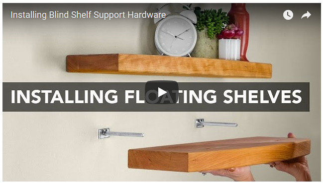 How Floating Shelves Are Installed