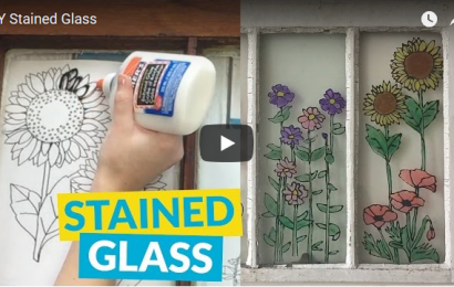 DIY Stained Glass With Glue and Acrylic