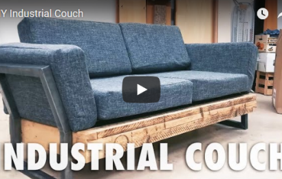 DIY industrial couch Reddit post