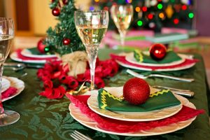christmas colorful table