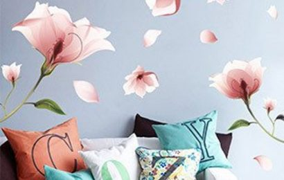 Floral wall decal