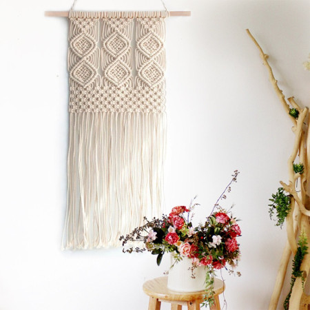 Macrame Woven Wall Hanging Tapestry