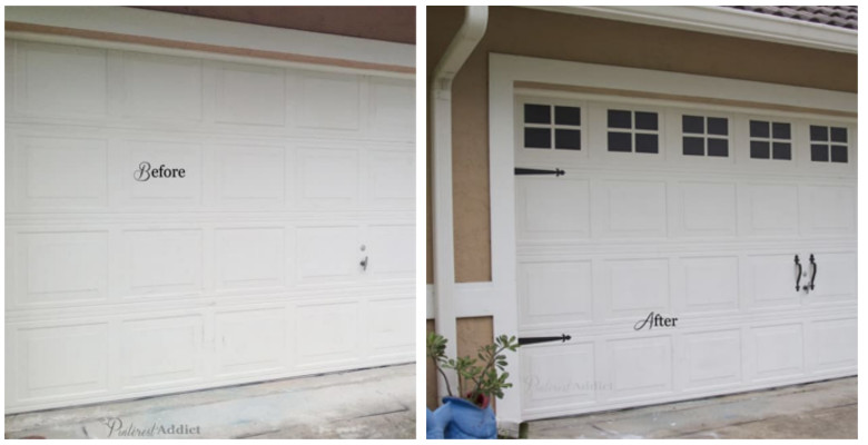 fale-windowson garage doors