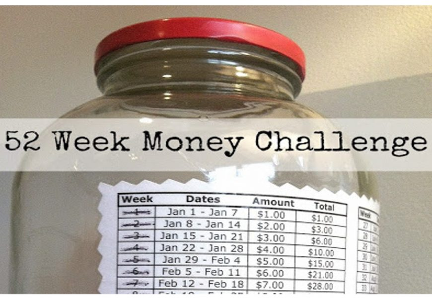 Money Saving Challenge For 52 Weeks, 2018