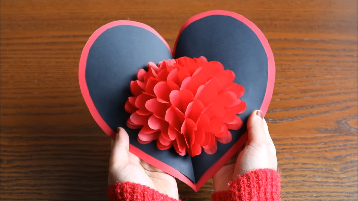 DIY Paper Craft – Flower Pop up Card
