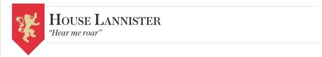 GoT-House Lannister