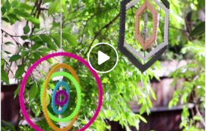 DIY Wind Spinner Using Perler Beads