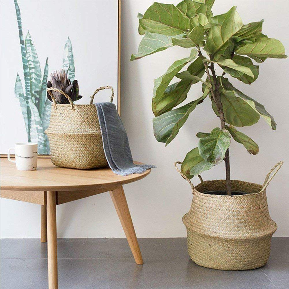 Seagrass basket decor ideas (2)
