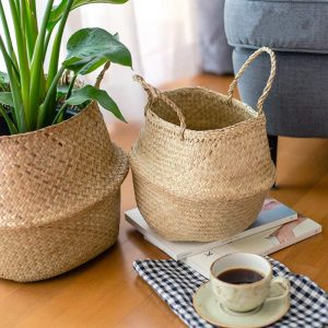 Seagrass basket decor ideas (3)