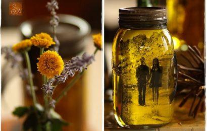 Displaying Pictures using Mason Jars