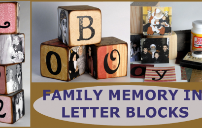 Simple DIY Family Memory Letter Blocks