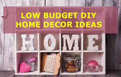 5 Low Budget DIY Home Décor Ideas