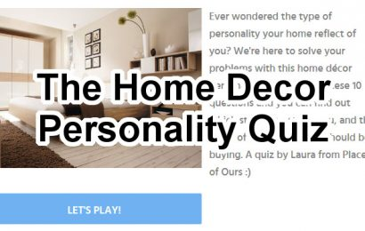 Home Decor Personality Quiz